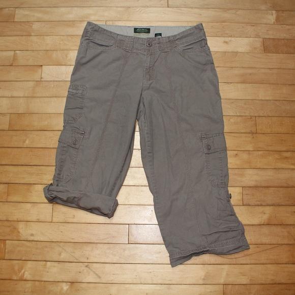 69023f946 Eddie Bauer Pants | Womens Size 10 Brown Capri Cargo | Poshmark